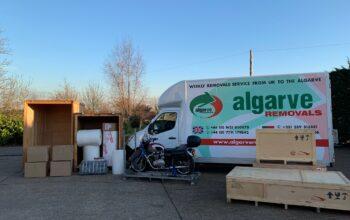 Van, packaging and crates