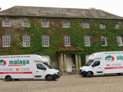 malaga-and-algarve-van-outside-house